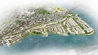 HTA - Rochester Riverside masterplan Aerial
