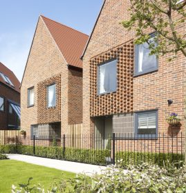 Brick houses, Horsted Park, Chatham, Kent